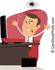 computer munka, -, 404, hiba, bogár
