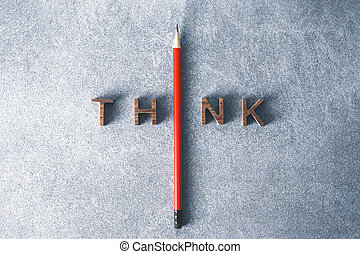 concept., box., szó, lenni, áll, vezetés, ceruza, ki, merészel, kívül, különböző, gondol, tolong., egy, páratlanság