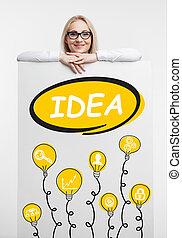 concept., fény, újítás, technológia, internet ügy, solution., networking, gumó