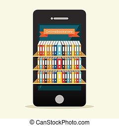 concept., online, vagy, könyvtár, digitális