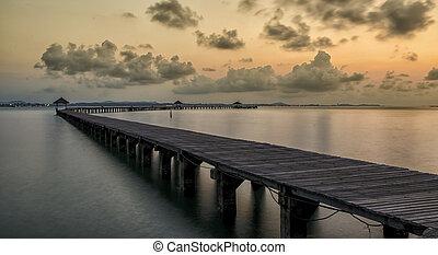 concept., resort., móló, tropikus, megüresedések, paradise., idegenforgalom
