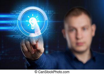 concept., technológia, hálózat, ügy, internet