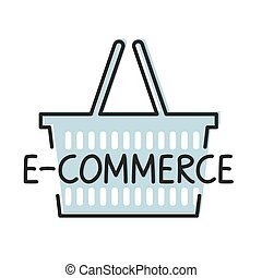 concept-, vektor, ábra, e-commerce, szó