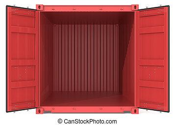 container., nyílik