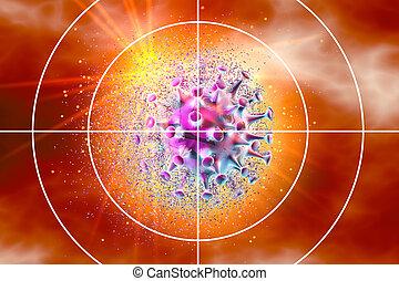 coronavirus, ábra, medically, céltábla, fogalom, 3, látási