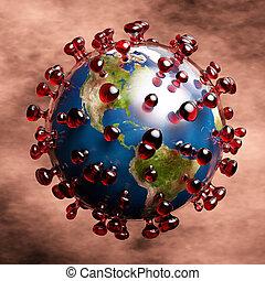 coronavirus, 3, ábra, művészi