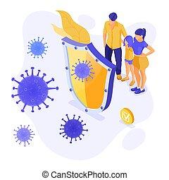coronavirus, aláír, 2019-ncov, abbahagy