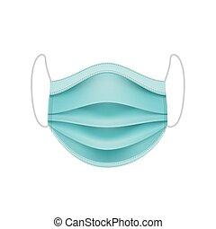 coronavirus, mask., concept., oltalmazó, arc