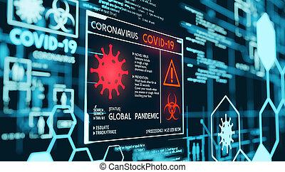 coronavirus, országos járvány, covid-19, megjelenítés, adatok