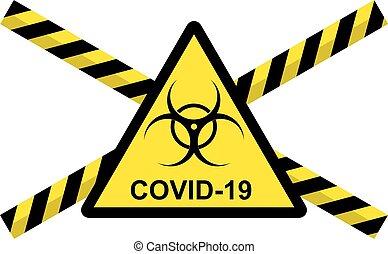 coronavirus, vektor, 2019-ncov, covid, fogalom
