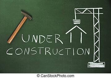 costruction, házhely