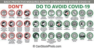 covid-19, lépés, ellen, betegség, oltalmazó, állhatatos, coronavirus, alapvető, ikon