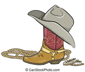 cowboy haszon, elszigetelt, western, white kalap