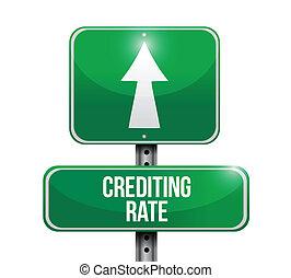 crediting, arány, út, ábra, aláír