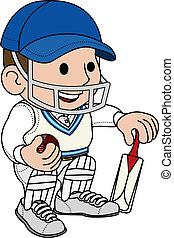 cricketer, ábra