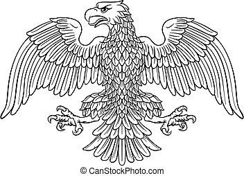 császári, jelkép, sas, címertani