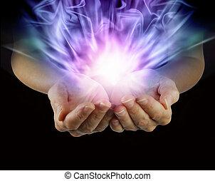 csésze alakú, energia, varázslatos, kézbesít