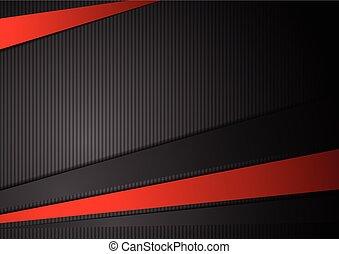 csíkoz, tech, szembeállít, háttér, black piros