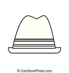 csípőre szabott, white kalap, háttér