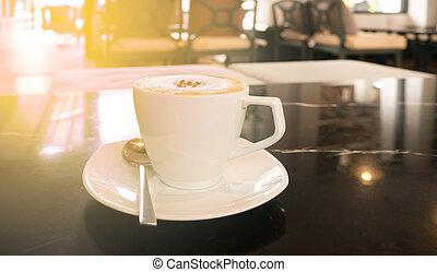 csípős, jó, kávécserje, reggel