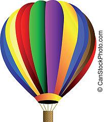 csípős, vektor, balloon, levegő