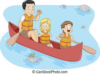 csónakázás, tábor