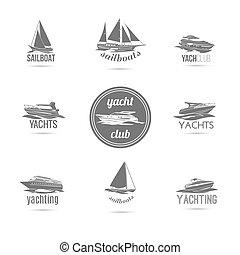 csónakázik, állhatatos, ikonok