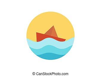 csónakázik, dolgozat, ábra