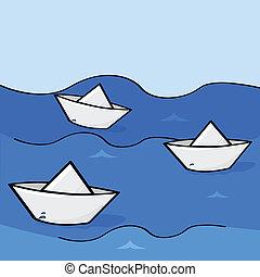 csónakázik, dolgozat