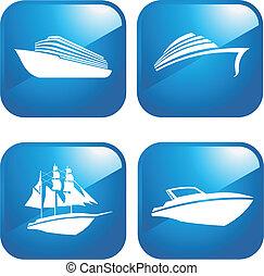 csónakázik, hajó