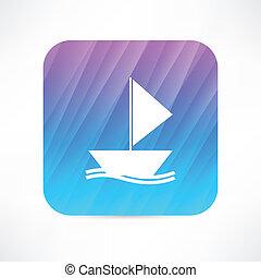 csónakázik, ikon