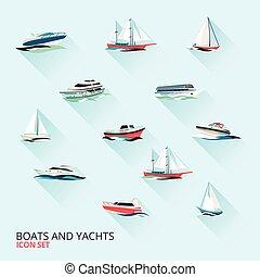 csónakázik, ikonok, állhatatos
