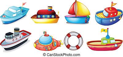 csónakázik, játékszer, gyűjtés