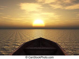 csónakázik, kilátás