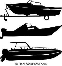 csónakázik, motor