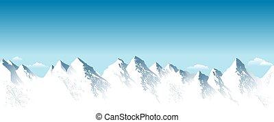 csúcs, hegy, hó megtesz