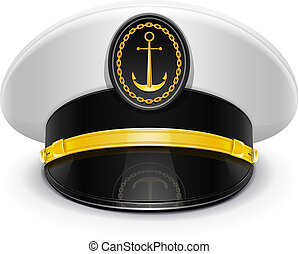 csúcs, kapitány, sapka, kokárda