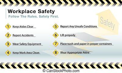 csúszás, biztonság, workplace