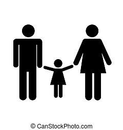 család, ábra