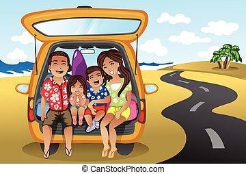 család, út út