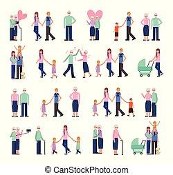 család csoport, tagok, betűk