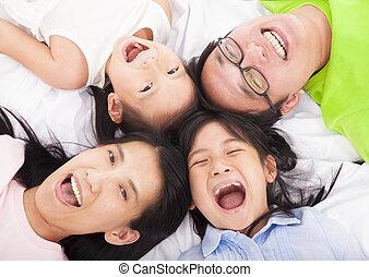 család, emelet, boldog