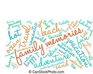 család, emlékezőtehetség, szó, felhő