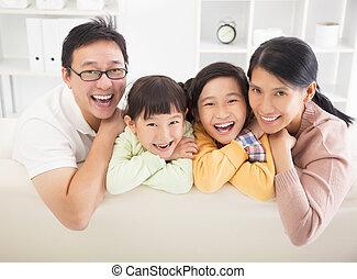 család hely, boldog, eleven