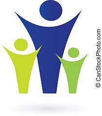család, közösség, pictogram