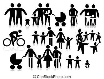 család, pictogram