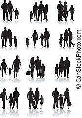 család togetherness, vektor