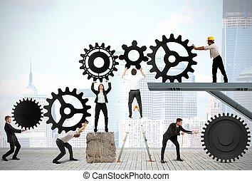 csapatmunka, businesspeople