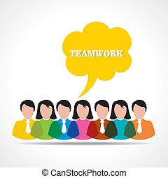 csapatmunka, emberek, fogalom
