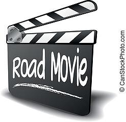 csattogó, film, bizottság, út